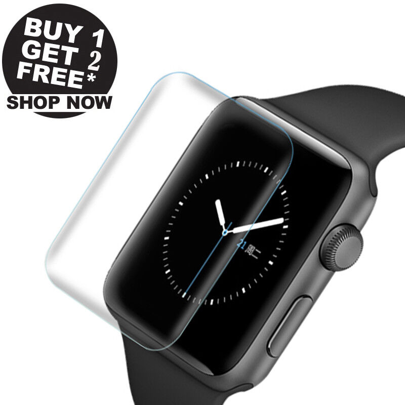 3Pcs Ultra-thin Screen Protector 3D Full Cover For Apple Watch Series 4 (44mm)