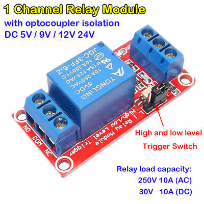 1-channel Hl Level Triger Dc Relay Module Board With Optocoupler Diy Arduino