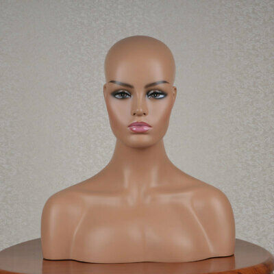 Female Realistic Fiberglass Mannequin Head Bust Sale For Wig Jewelry And Hat 132