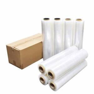 4 Rolls 500mm x 400m 25µM Stretch Film Pallet Wrap Carton Shrink Revesby Bankstown Area Preview
