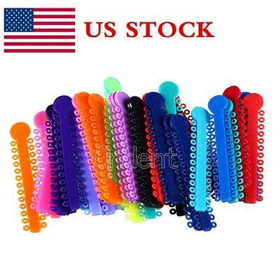 Us 1040pcsbag Orthodontic Dental Multi-color Ligature Ties Elastic Rubber Bands