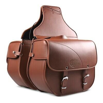 Saddle Bag Suzuki Intruder M 1800 R  Kentucky 30l brown Side Bags Pair for sale  Shipping to Ireland