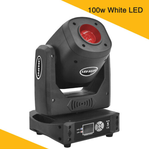 3 Prism 100w LED Moving Head Spot Light Beam Gobo Stage Lighting Dj Disco Party