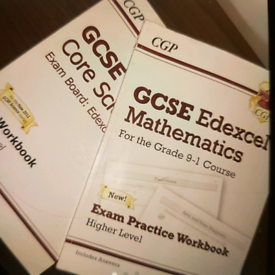CGP Maths and Core science revision guides