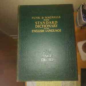 Vintage (1940) Funk & Wagnalls Dictionary - Oversize