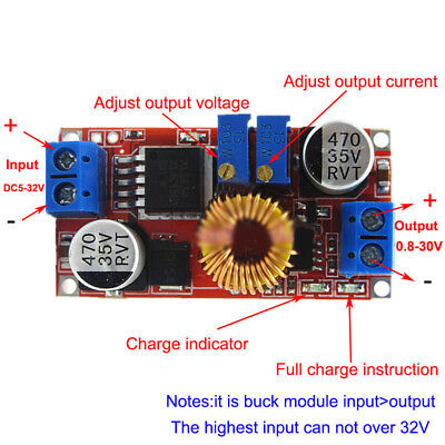 75w Dc Buck Boost Voltage Converter Constant Current Module Step Power Up Down