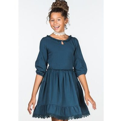 Matilda Jane Make Believe Navy Girls Size 10 Out of the Blue Dress NWT Tween New](Girls Out Of Clothes)