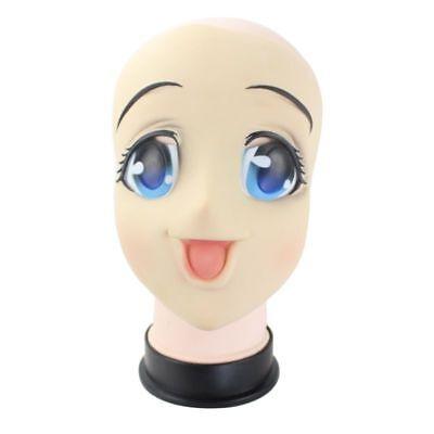 Cartoon Cosplay Full Face Latex Mask Kigurumi Big Eyes Japanese Anime Role Doll - Anime Latex