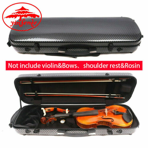 New 4/4 Violin Case Carbon Fiber Violin Box Sheet Bag Strong Light Carry Violin