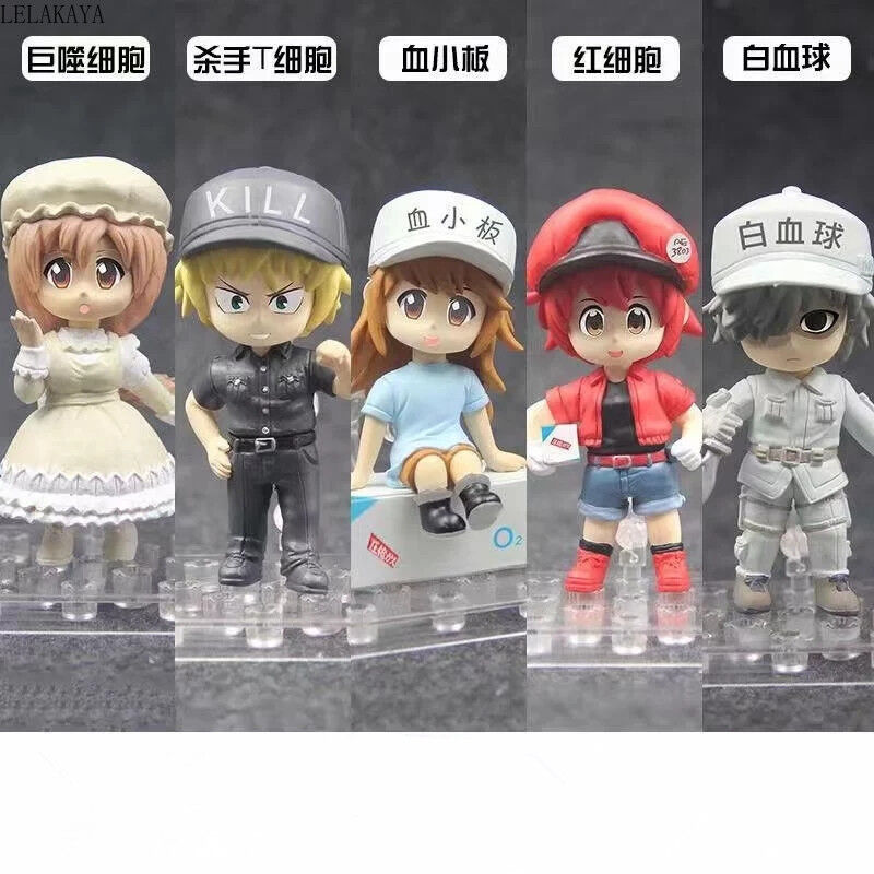 Cells At Work Anime Action Figures Red Blood Cell PVC Toys Colloction Dolls 18cm