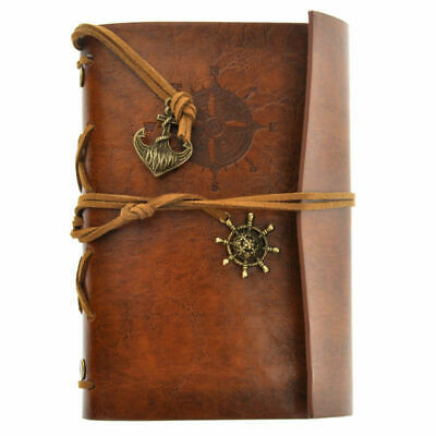 US Classic Retro Leather Journal Travel Notepad Notebook Blank Diary -