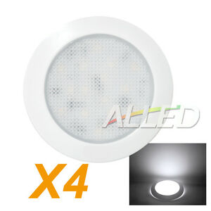 4X12V LED Down Light Cabin Ceiling Lamp Caravan/Camper Trailer/Car/RV Cool White
