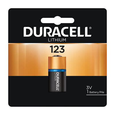NEW DURACELL 3 volt Lithium Photo Camera Battery 123 DL123A CR123A EL123A      ()
