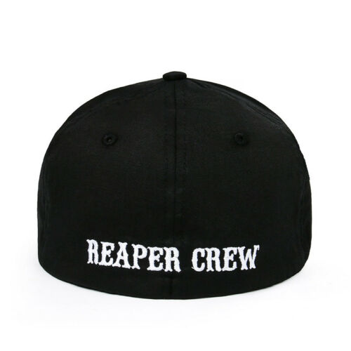 plain fitted baseball caps uk hat sizes size chart adult biker show sons anarchy reaper crew cap