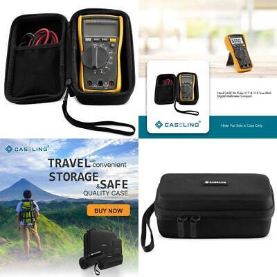 Hard Case Storage Carrying Case Bag Box For Fluke 115 And Amp 117 Digital Meter