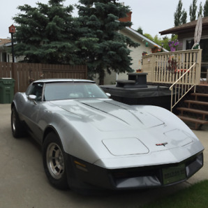 1981 Corvette t-bar, low miles, recently upholstered, stereo,