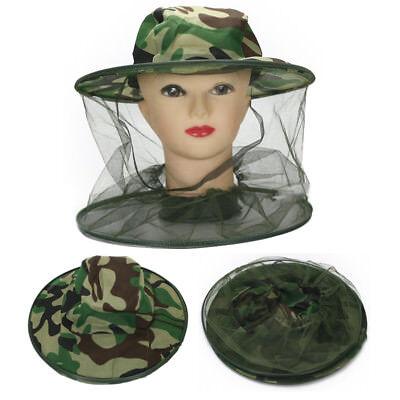 Beekeeping Folding Ventilated Bee Keep Hat Protective Veil Mask Mesh Net Cap Top