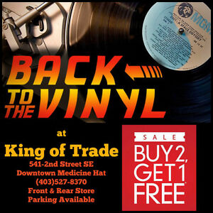 Back to the Vinyl Sale at King of Trade, Downtown Medicine Hat