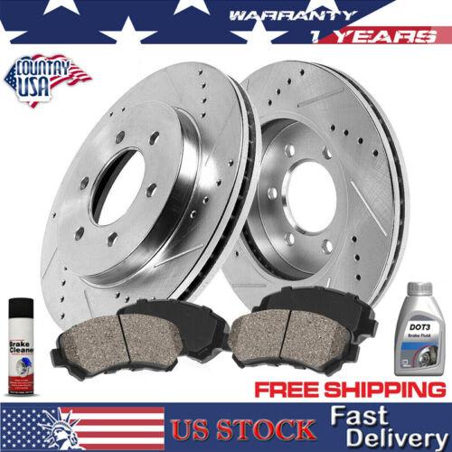 Ceramic Pads Chevy GMC Yukon Tahoe Avalanche Suburban Front Disc Brake Rotors