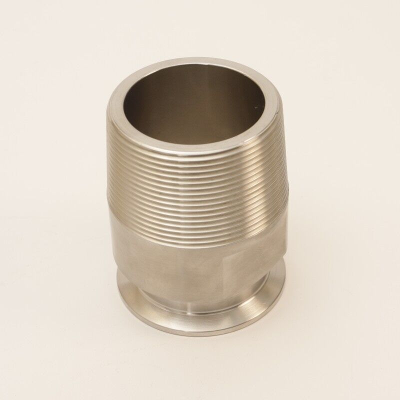 Threaded Barrel Tap | Tri Clamp 2 inch for 2.375 Bung Hole Sanitary