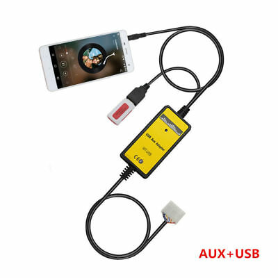 Car USB Audio Input Adapter AUX-in MP3 player 3.5MM Interface For Toyota 5+7Pin (Toyota Corolla Aux Input Adapter)