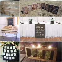 Rustic Wooden Wedding Decor Rentals