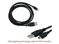 PS3 Charging cable for Controller Brand New