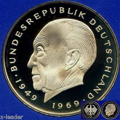 1974 J * 2 Deutsche Mark Konrad Adenauer polierte Platte PP, proof, top