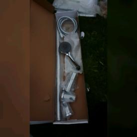 Shower head rail