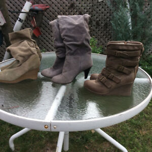 WARM FALL/WINTER LADIES BOOTS TO CLEAR