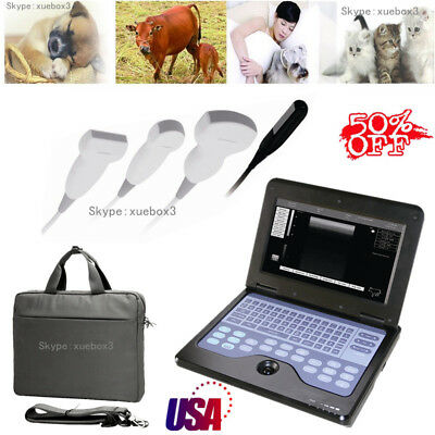 10.1 Inch Portable Vetveterinary Ultrasound Scanner Machine2 Probe For Animals