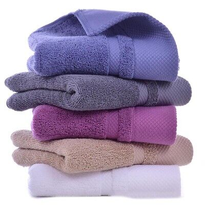 Bath Hand Towels Egyptian Cotton Sheet 650GSM Hotel Soft Quality Multi-colors