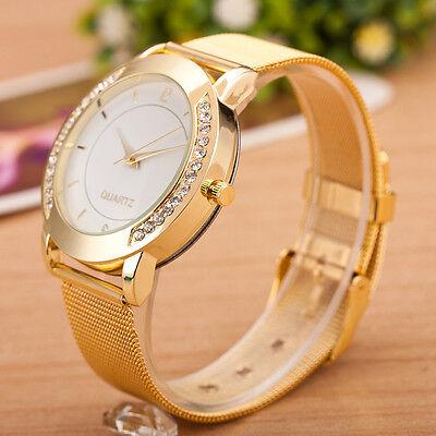 Women Luxury Stainless Steel Jewelled Bracelet Watch Analog Quartz Wrist Watches