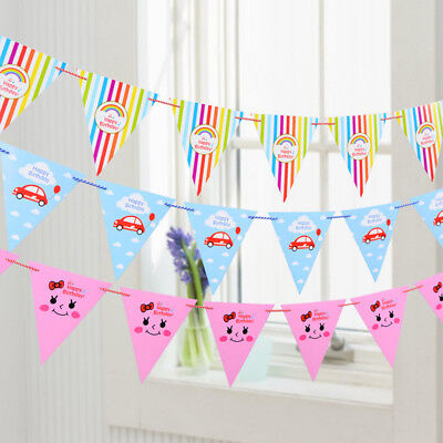 Cute Birthday Party Banner Party Supplies Party Flags Decor For Kids Girls Boys