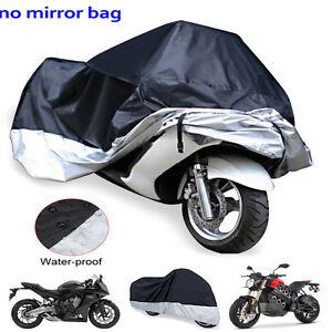 Motorradabdeckung Motorrad Garage Abdeckplane Wasserdicht UV 245×105×125cm XXL