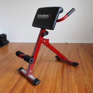 Stamina X Hyper Bench Exercise Machine