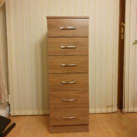 Brown tall drawer furniture