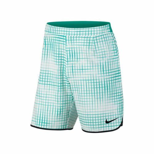 "Nike Court Printed Gladiator Short 9"" Teal."