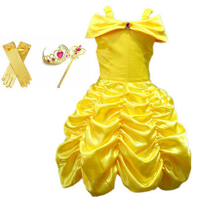 Belle The Princess (Girl Princess Dress Beauty and the Beast Belle Cosplay Costume Kids)