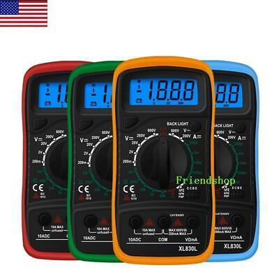Usa Digital Multimeter Ac Dc Voltmeter Ammeter Ohmmeter Volt Tester Meter
