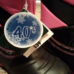 REDUCED $20.  New With Tags! Girls Lined Winter Boots St. John's Newfoundland image 2