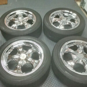 Falken Chrome Wheels and Bridgestone Tires