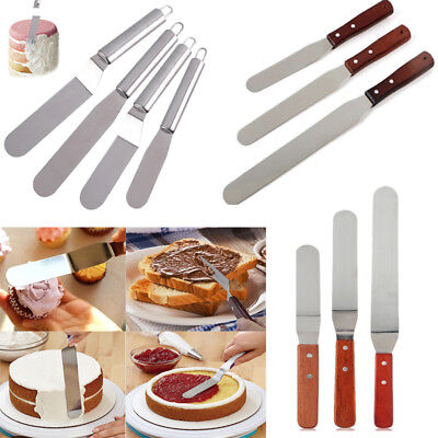 6/8/10 Inch Stainless Steel Butter Cake Cream Knife Spatula Pastry Baking Tools (Cake Spatula)