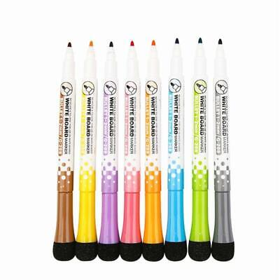 8pcs Magnetic Dry Erase Markers Low Odor White Board Markers Kids Teacher Pen