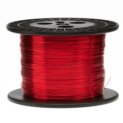 20 Awg Gauge Enameled Copper Magnet Wire 5.0 Lbs 1595 Length 0.0331 155c Red