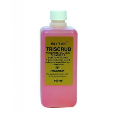 Gold Label Triscrub 500ml antibacterial skin cleanser and surgical scrub.