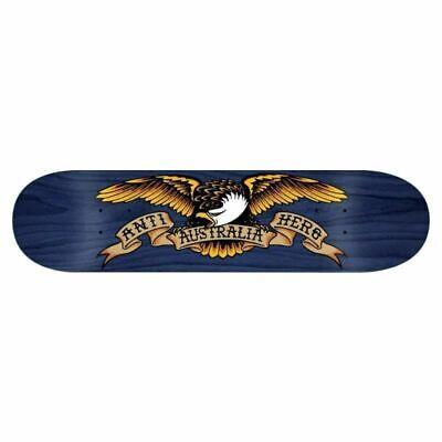 "Anti Hero Skateboard Deck OZ Eagle 8.25"" Blue Limitied Issue Antihero FREE GRIP"