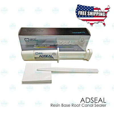 Adseal Resin Base Root Canal Sealer Set Dual Syringe Spatula Mixing Plate