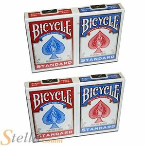 4-x-Bicycle-Standard-Rider-Back-Deck-Playing-Cards-2-Red-2-Blue-Decks