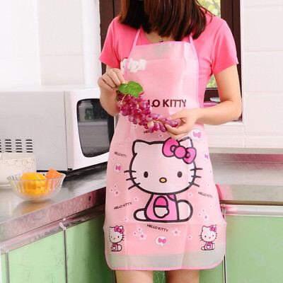 Hello Kitty Sleeveless Waterproof Anti-oil Doraemon Kitchen Women Aprons BBQ